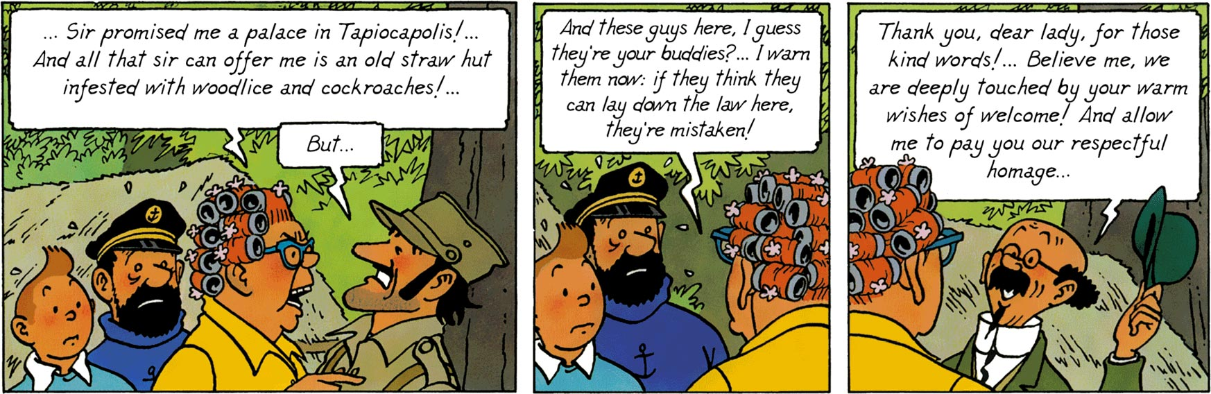 Peggy and Alcazar in Tintin and the Picaros