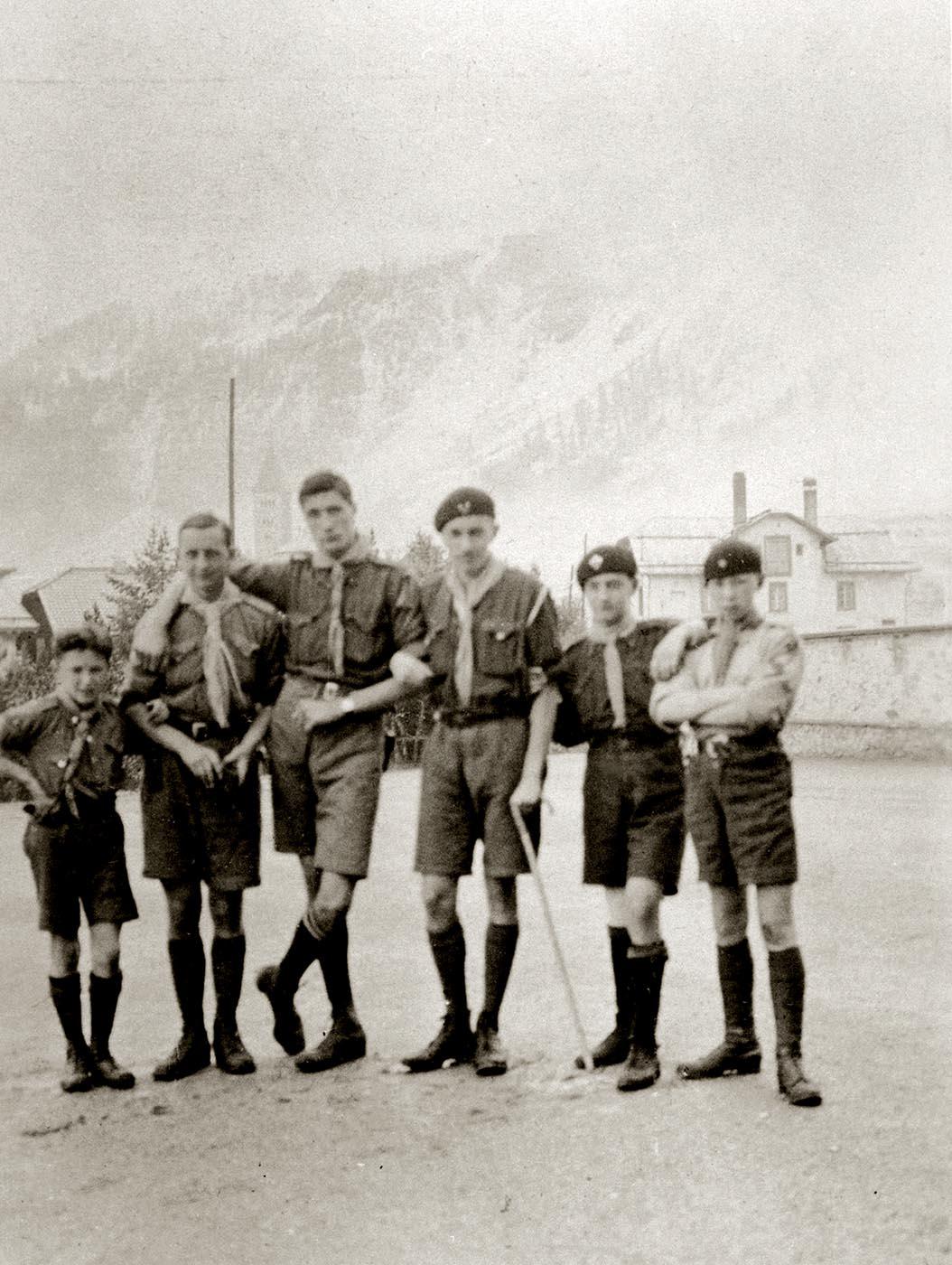 Hergé scout en 1922