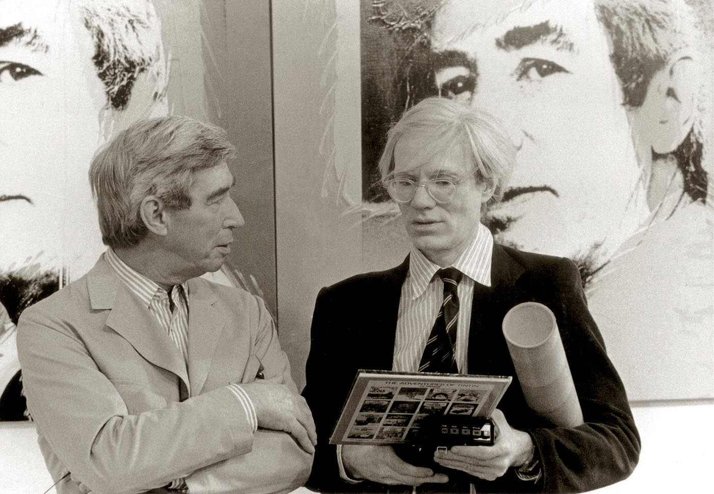 Hergé and Andy Warhol - Galerie D Brussels 1977