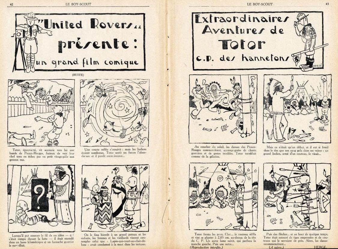 Planche de Totor CP des Hannetons - Boy Scout belge