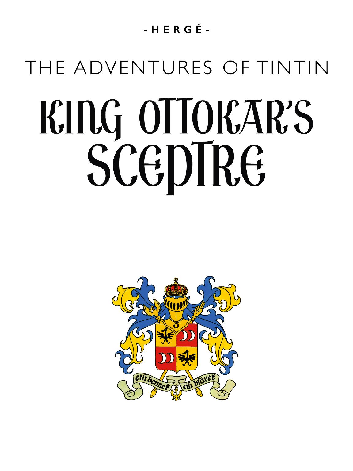 King Ottokar's Sceptre - Title page
