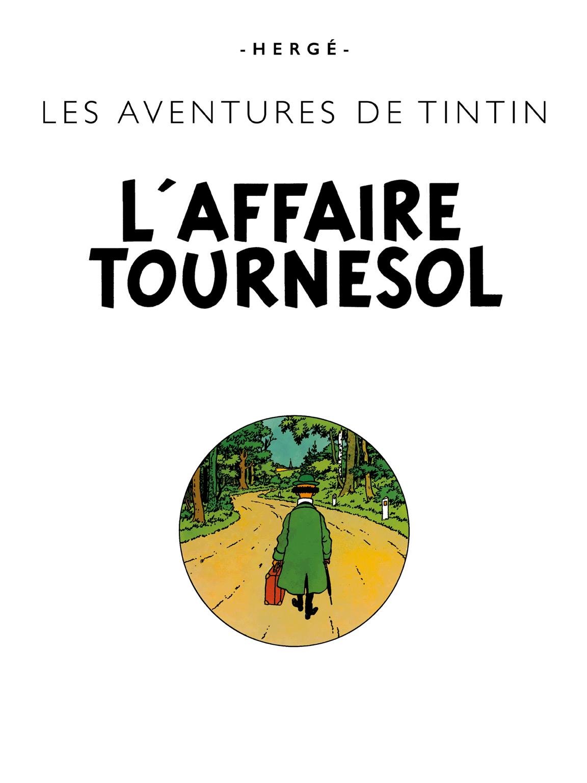 L'Affaire Tournesol - page titre