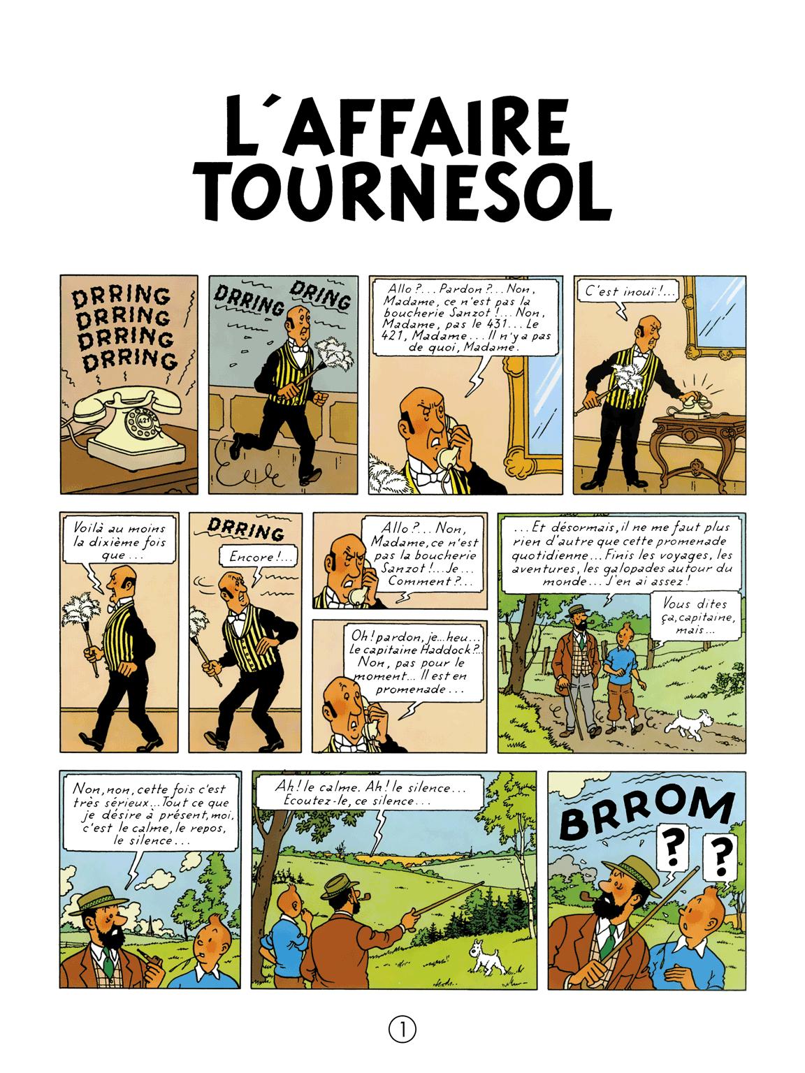 L'Affaire Tournesol - page 1