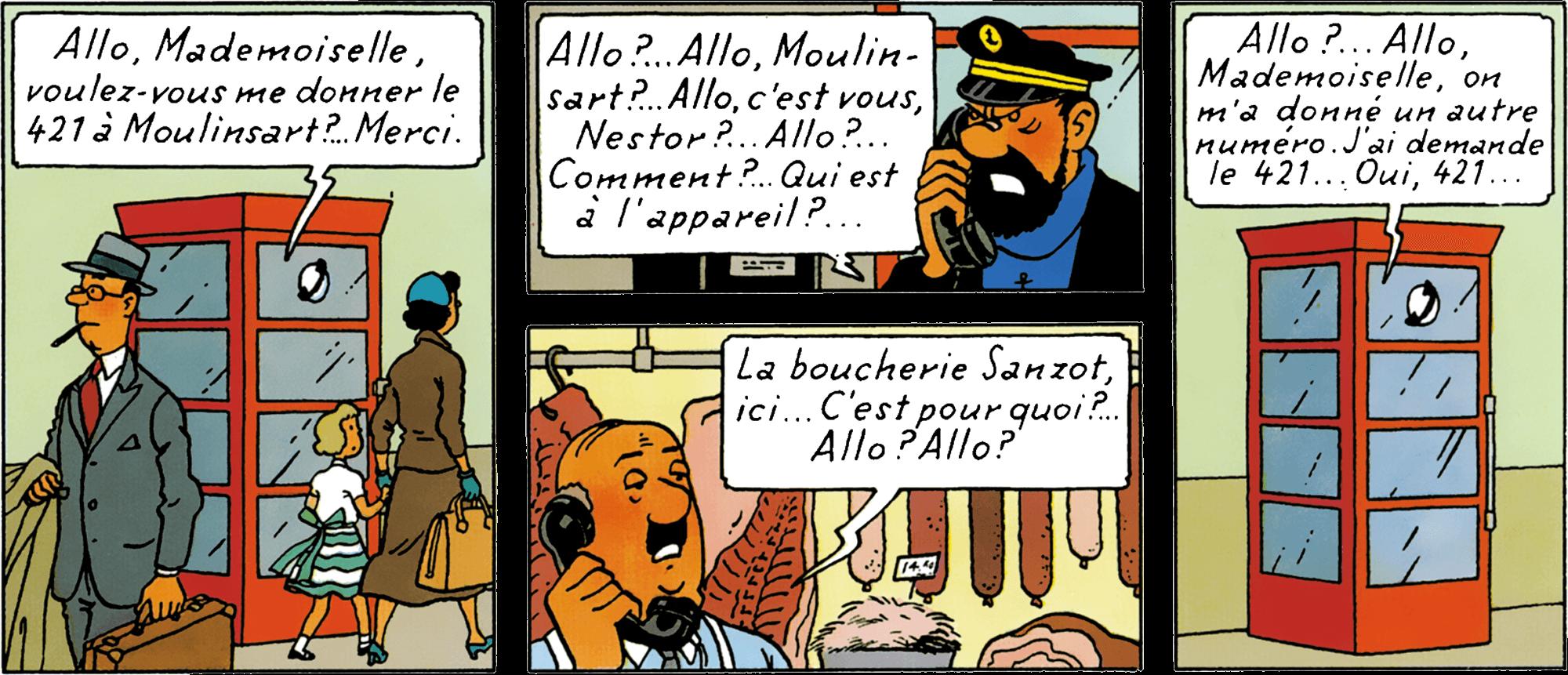 La boucherie Sanzot dans L'Affaire Tournesol