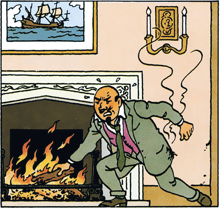 Le docteur Muller dans Tintin l'ile noire