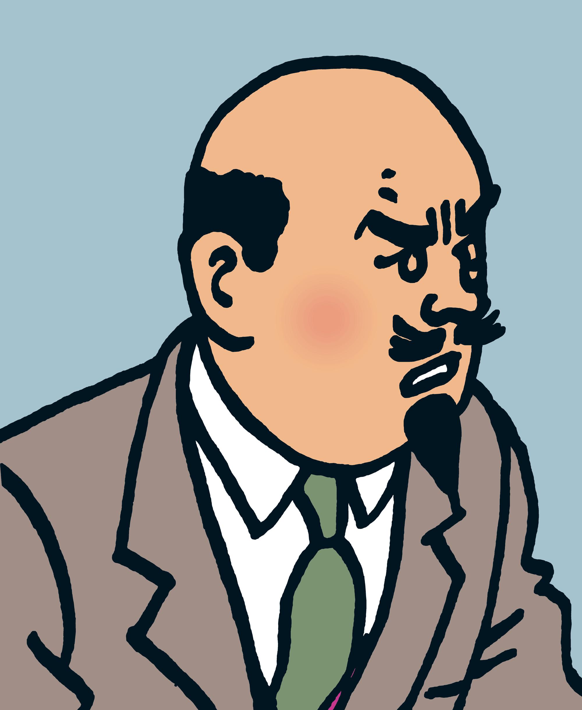 Tintin - Les Aventures de Tintin - Île Noire - Personnage Professeur Müller