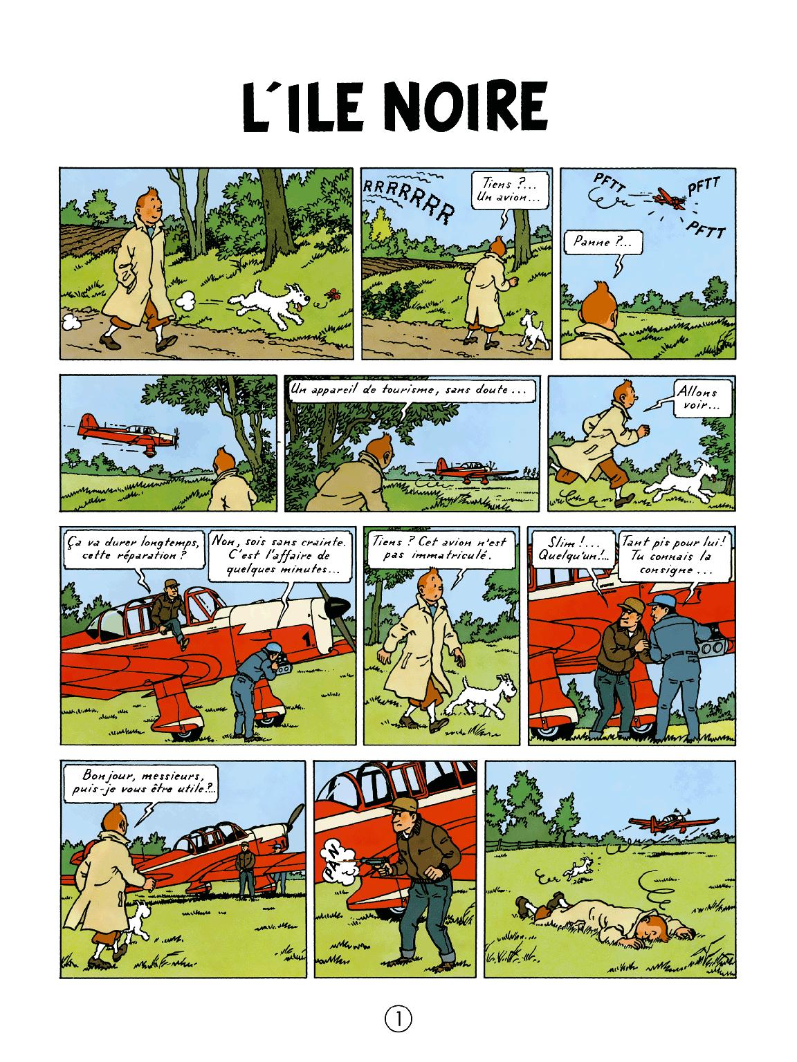L'Île Noire - page 1
