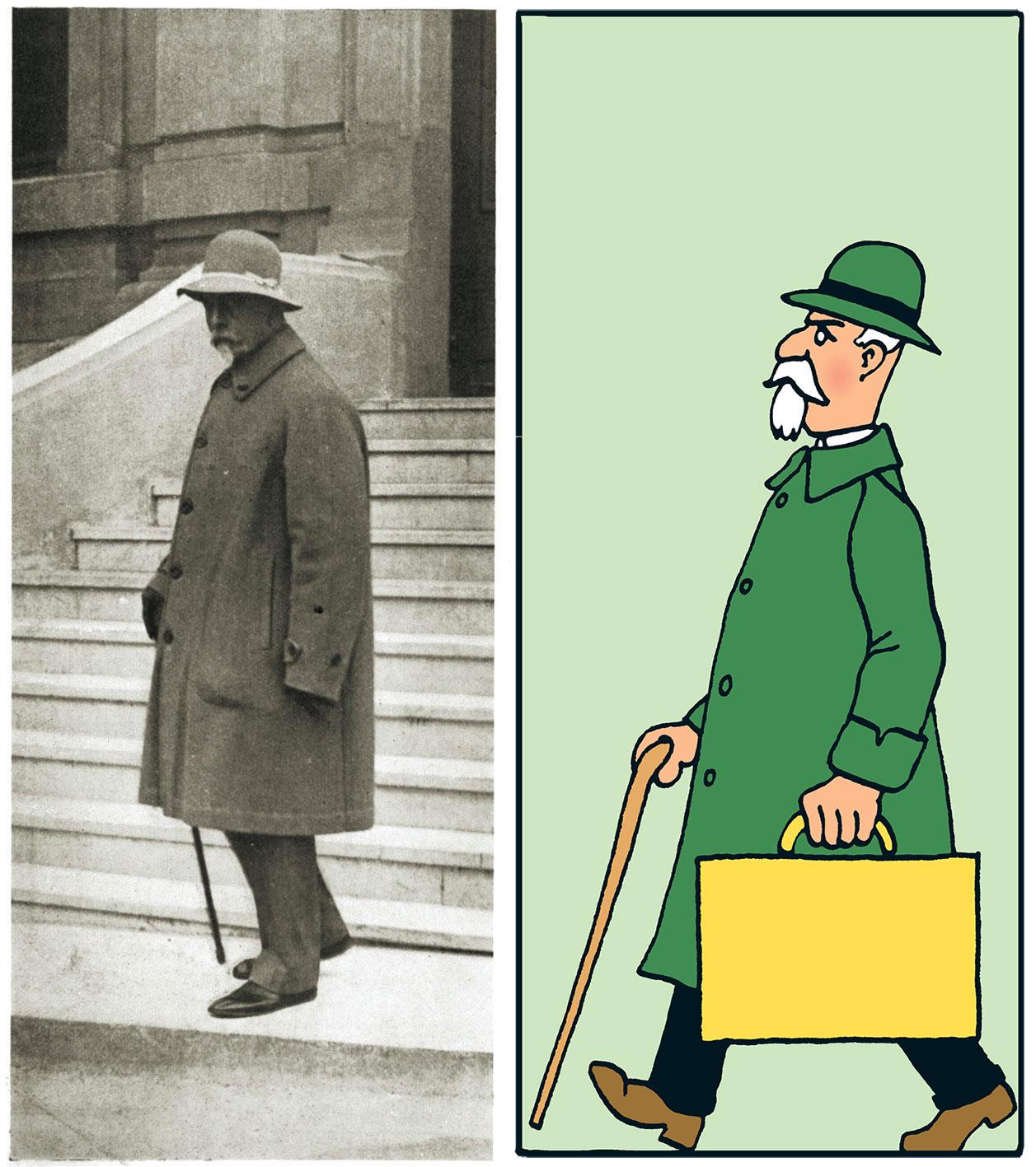 Portrait de Basil Zaharoff qui a inspiré Hergé