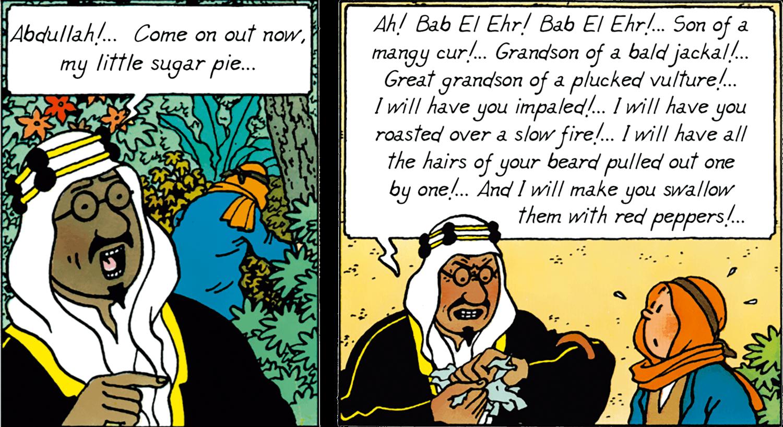 Tintin - The Adventures of Tintin - Land of Black Gold - Emir Mohammed Ben Kalish Ezab