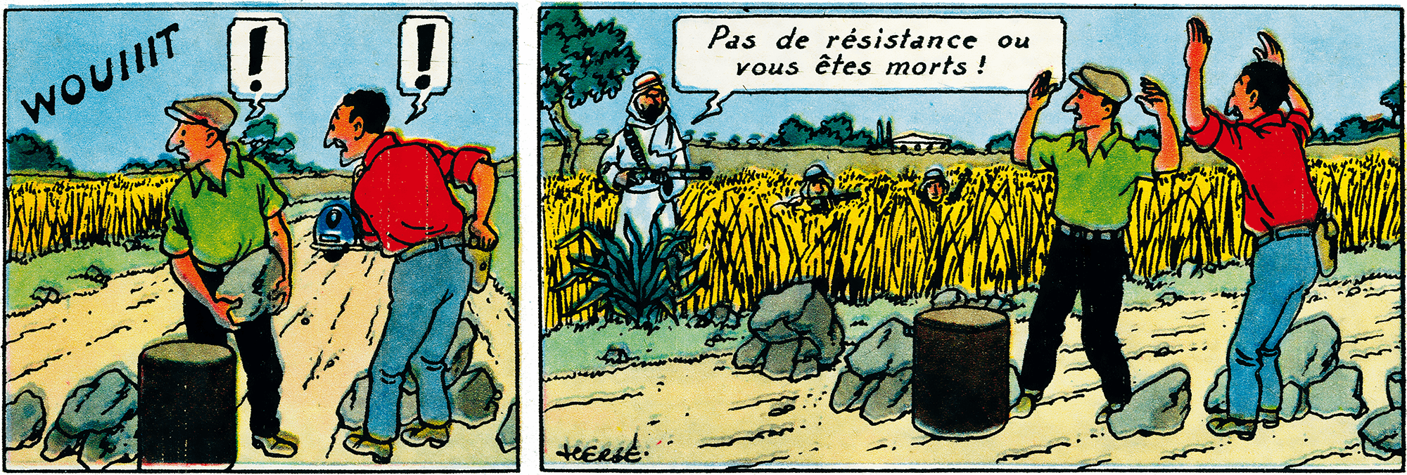 Tintin - The Adventures of Tintin - Land of Black Gold - Tintin magazine