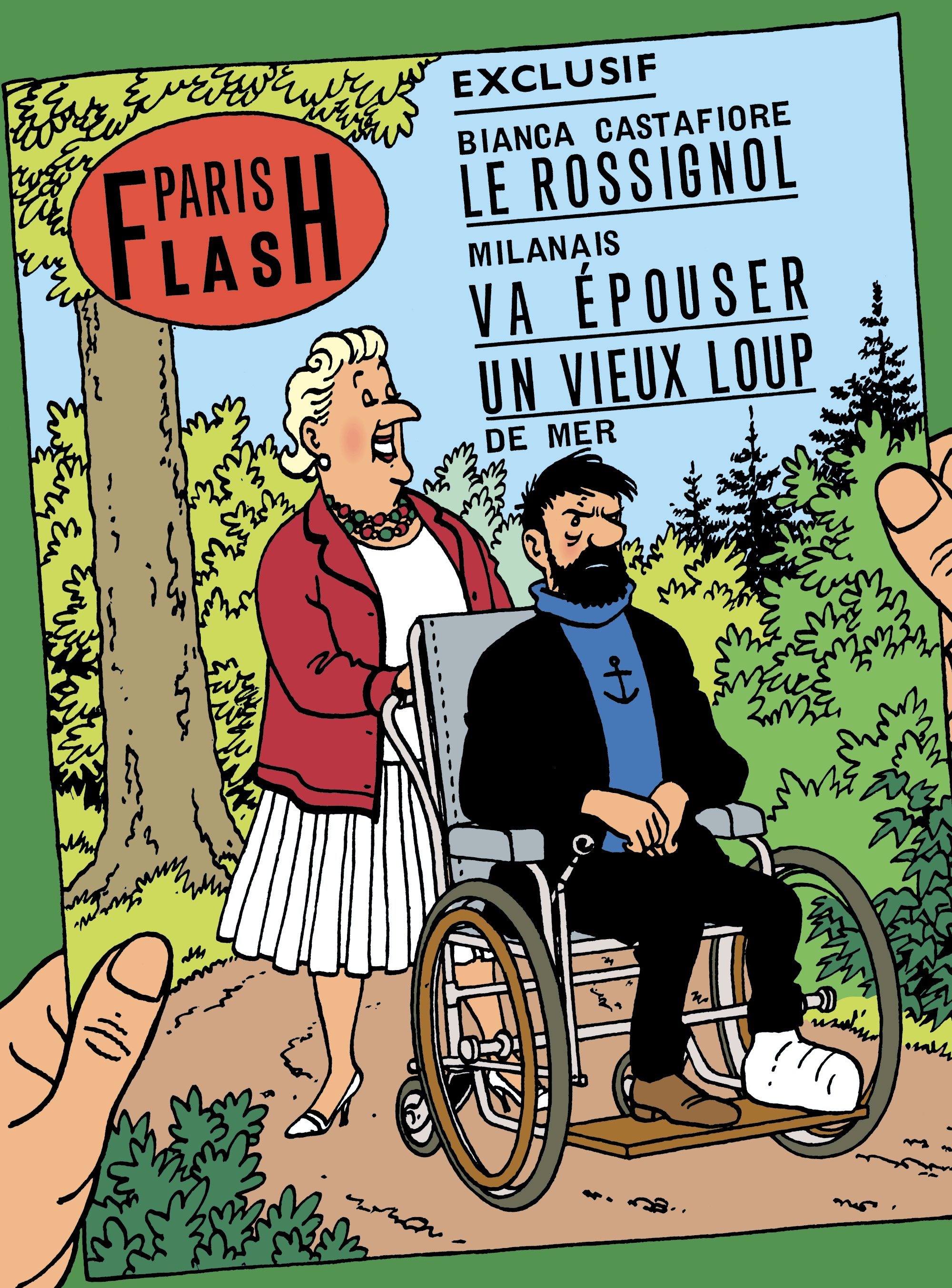 Couverture de Paris Flash - Le capitaine Haddock en fauteuil et la Castafiore