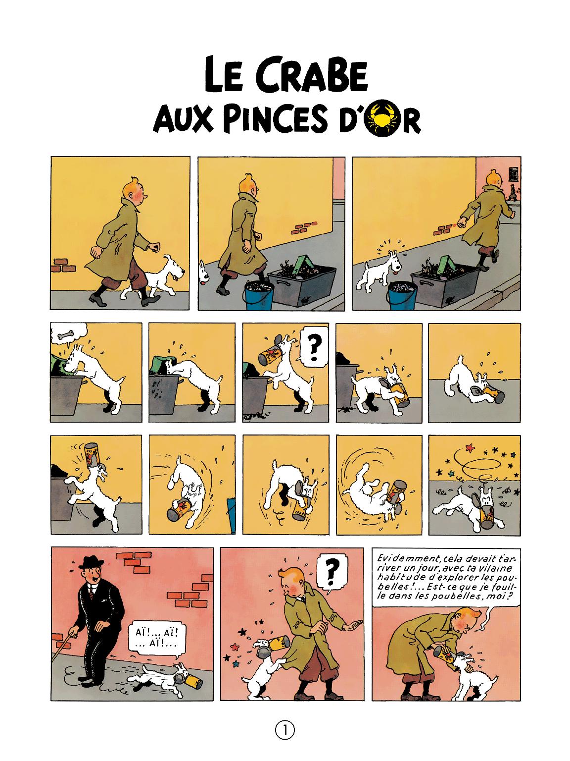 Le Crabe aux pinces d'or - page 1