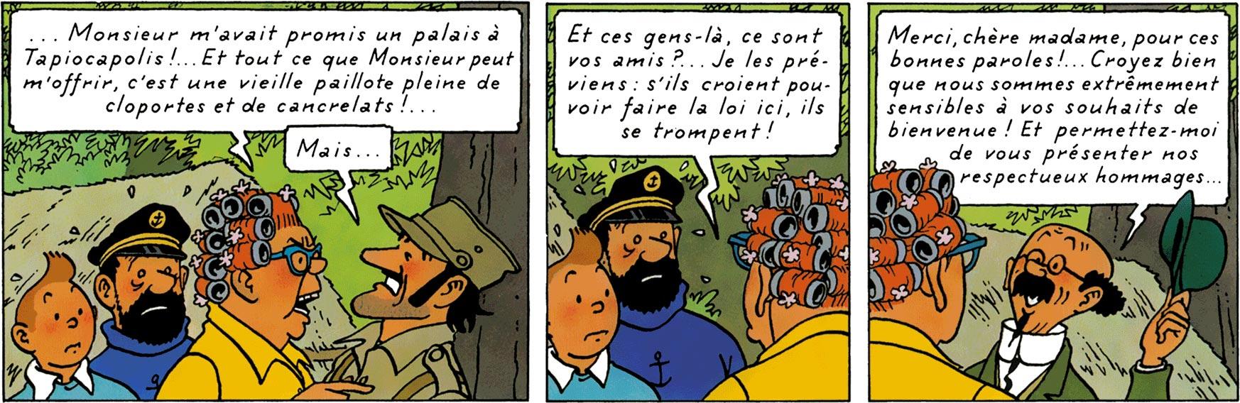 Peggy et Alcazar dans Tintin et les Picaros