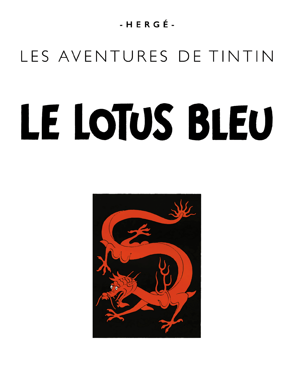 Le Lotus bleu - Page titre