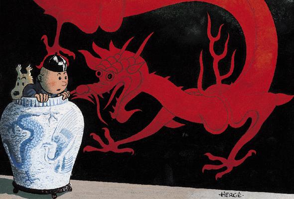 Les aventures de Tintin - Le Lotus Bleu - Dragon