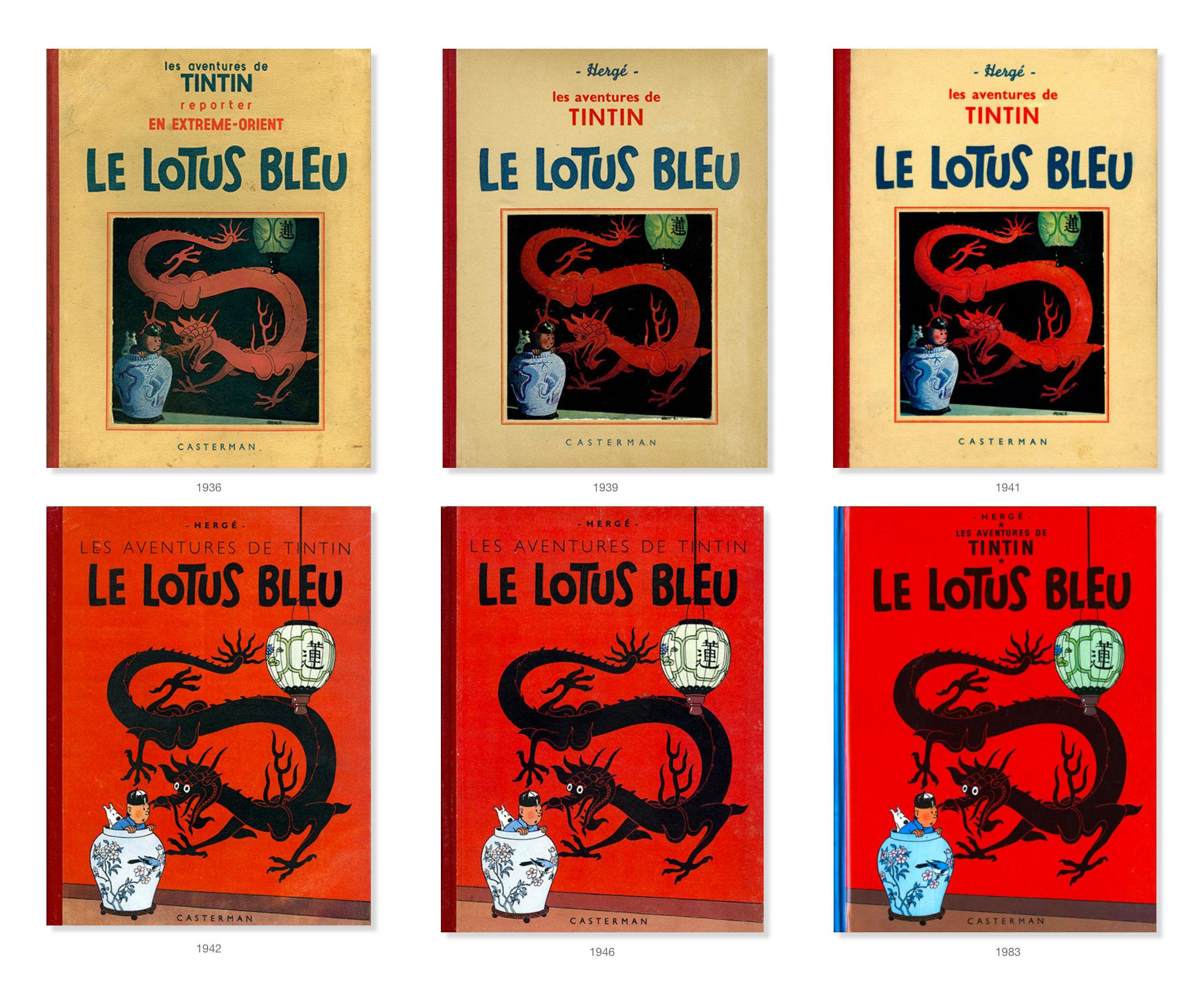 Tintin - Les Aventures de Tintin - Le Lotus Bleu - Couvertures Album