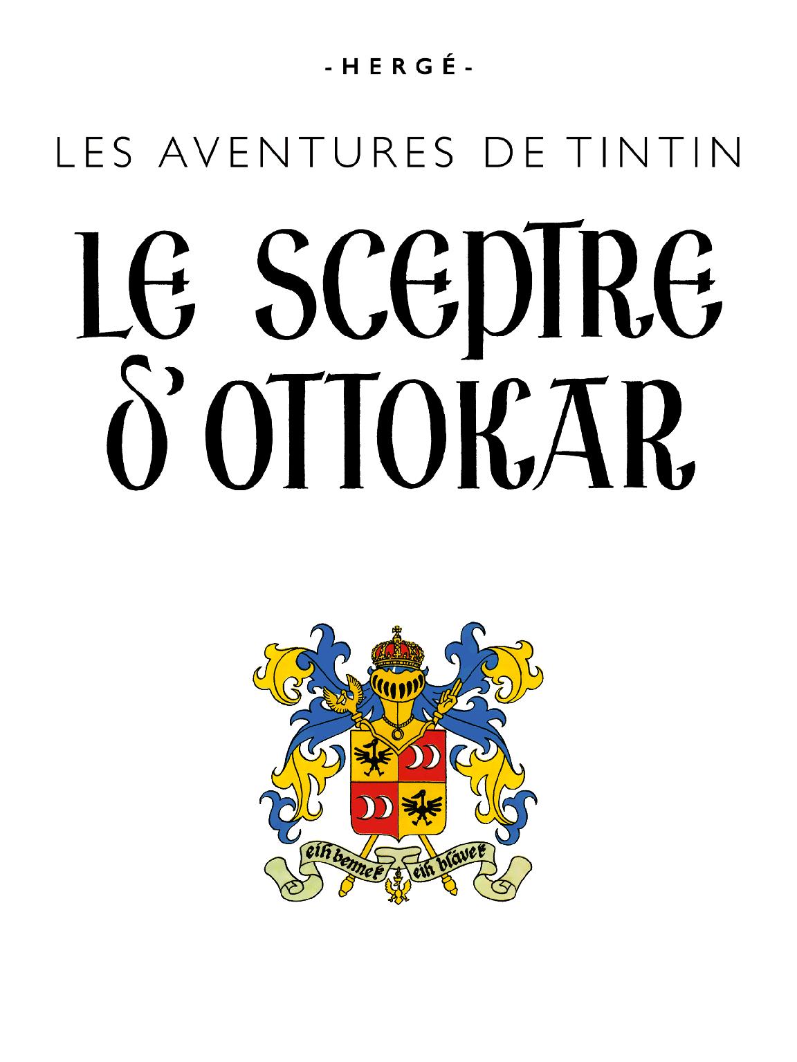Le Sceptre d'Ottokar - page titre