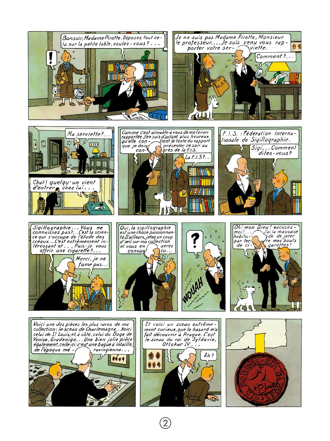 Le Sceptre d'Ottokar - page 2