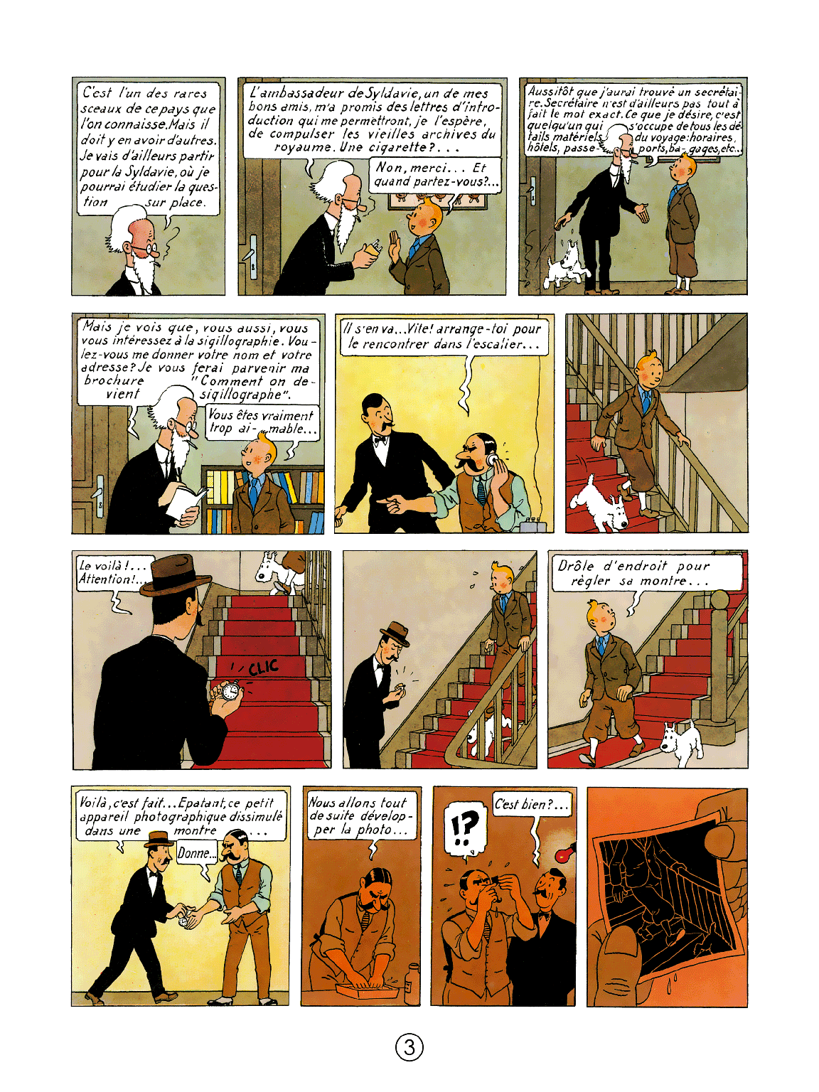 Le Sceptre d'Ottokar - page 3