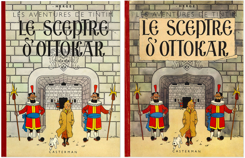 Versions des couvertures du Sceptre d'Ottokar
