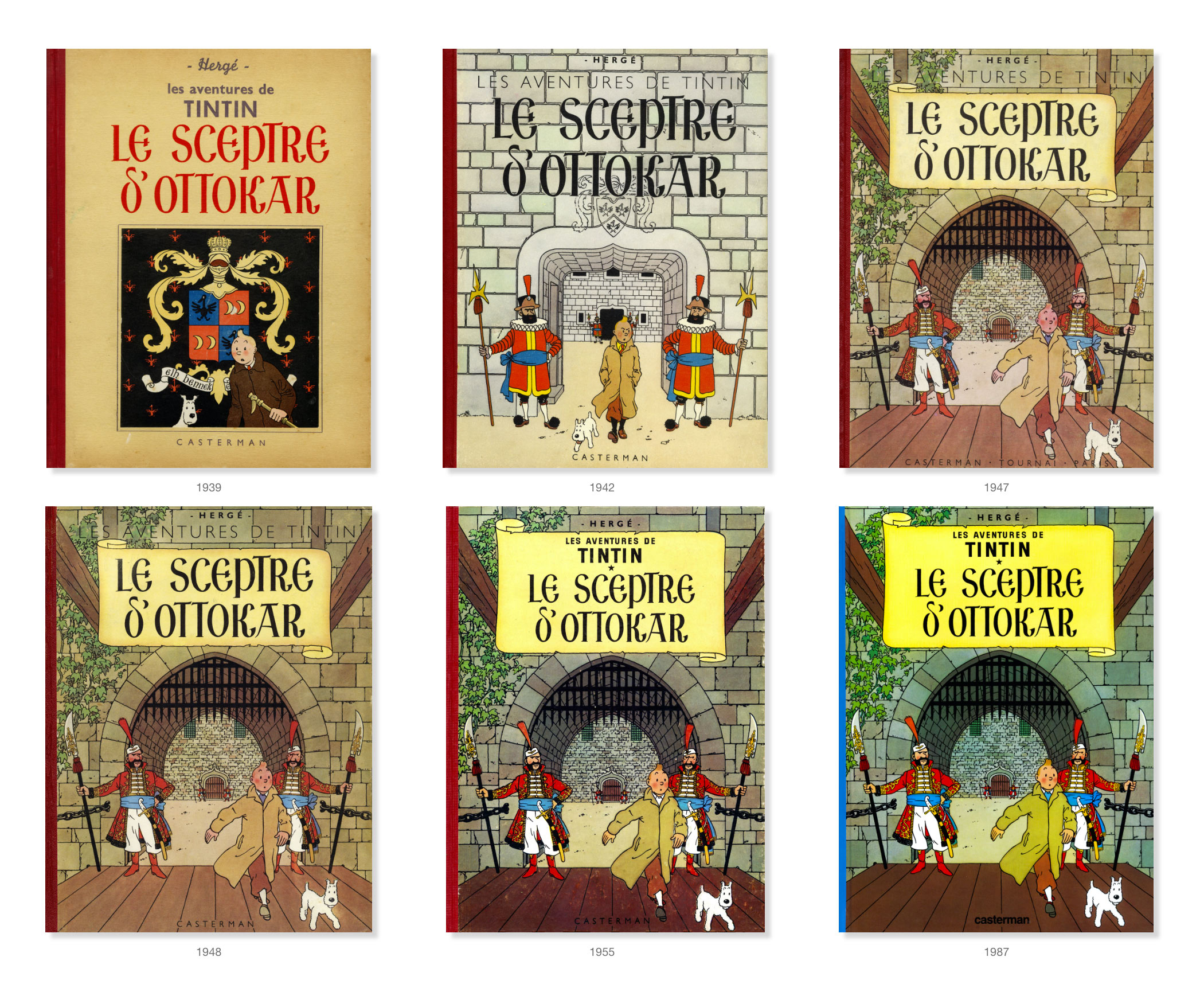 Les couverture du Sceptre d'Ottokar de 1939 à 1967