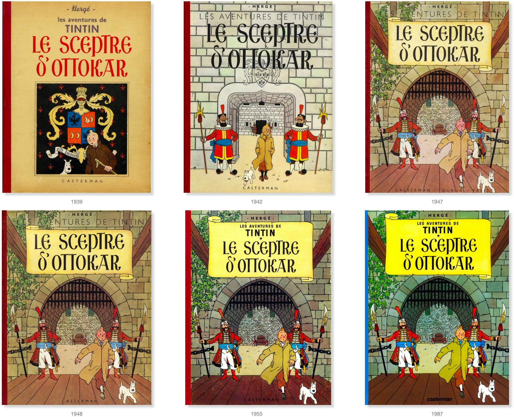 Les couvertures du Sceptre d'Ottokar de 1939 à 1967