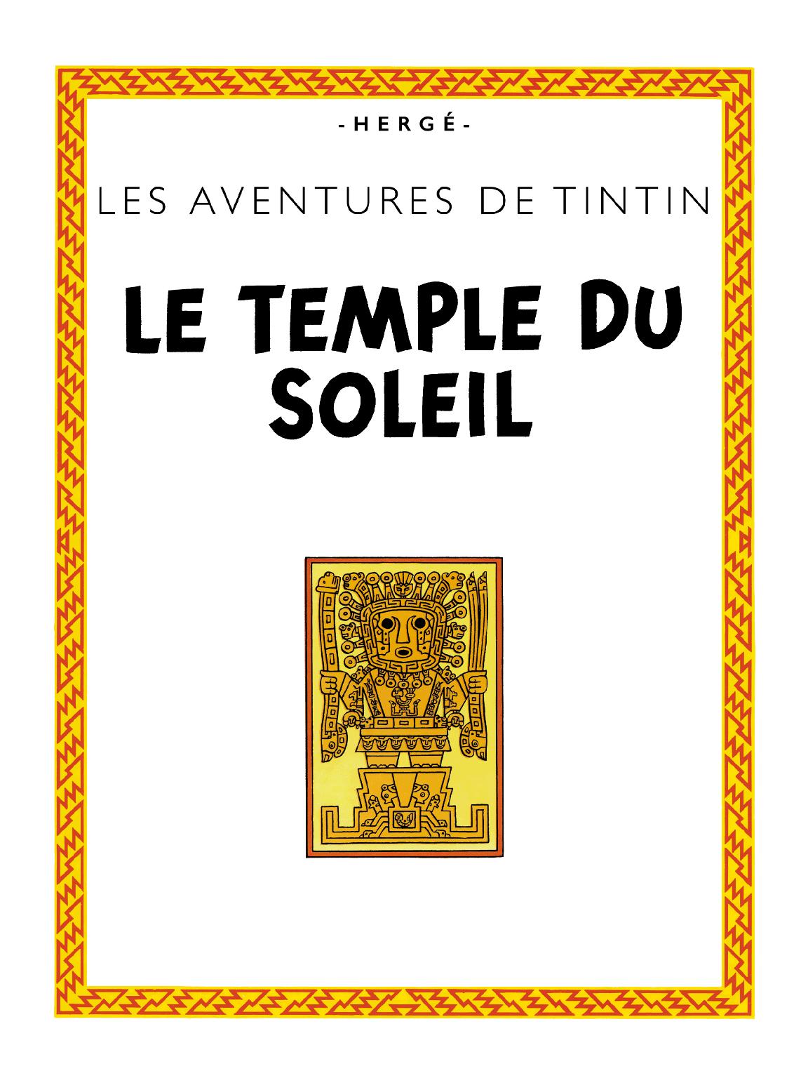 Le Temple du Soleil - page titre