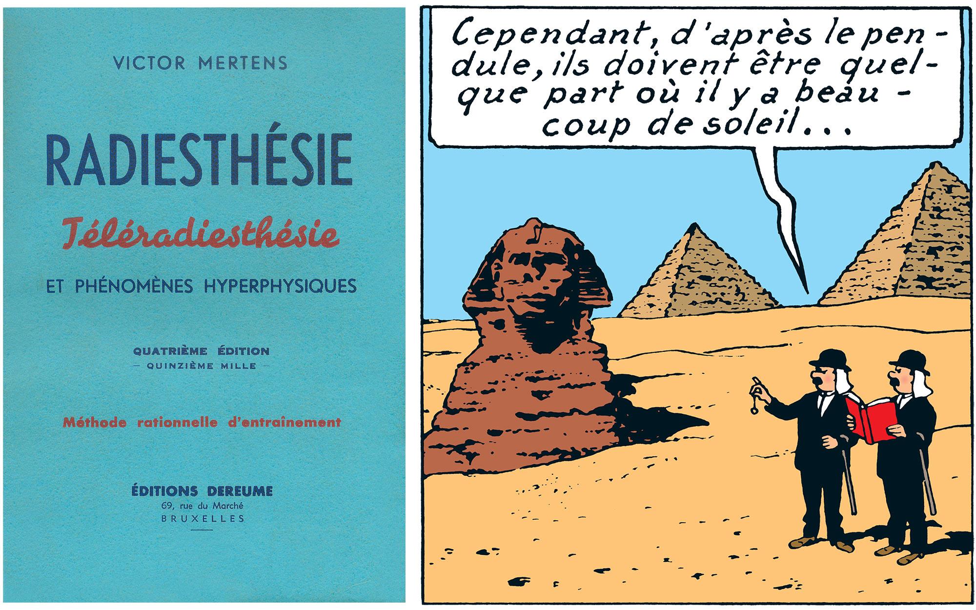 Les Dupondt radiesthésistes en Egypte dans le Temple du Soleil