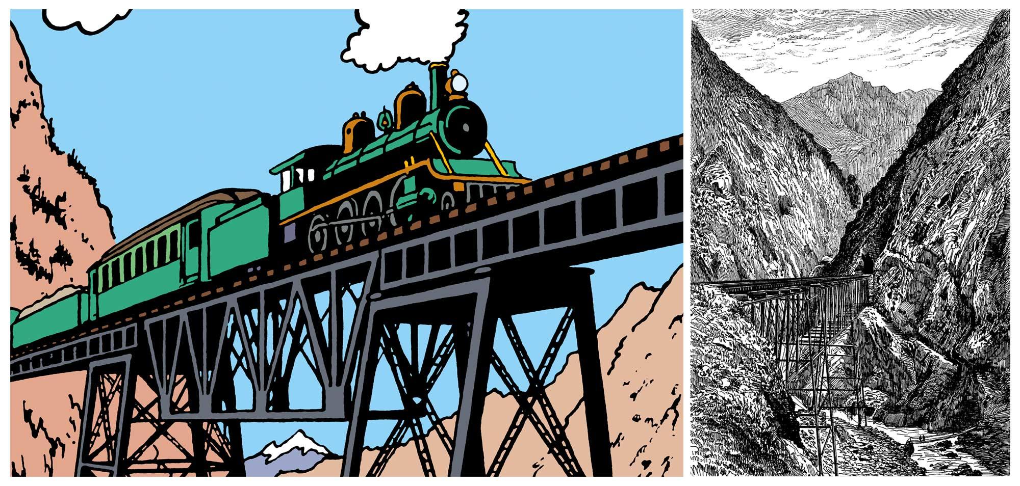 Tintin - Les Aventures de Tintin - Le Temple du Soleil - Le Train le Plus Haut Du Monde