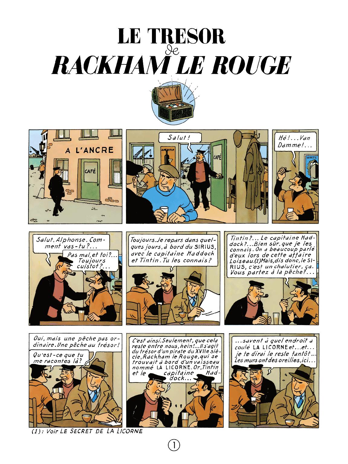 Le Trésor de Rackham le Rouge - page 1