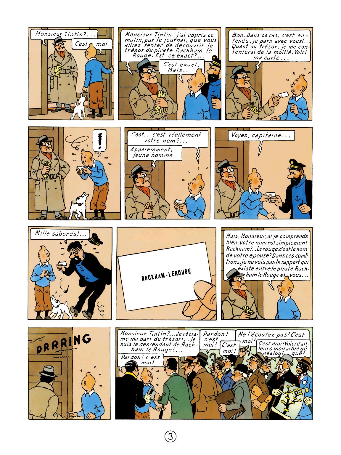 Le Trésor de Rackham le Rouge - page 3
