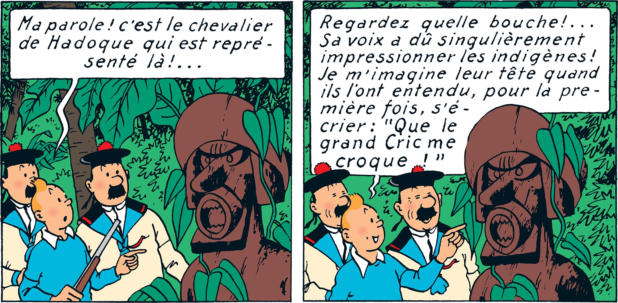 Que le grand cric me croque, Tintin et les Dupondt déguisés en marins