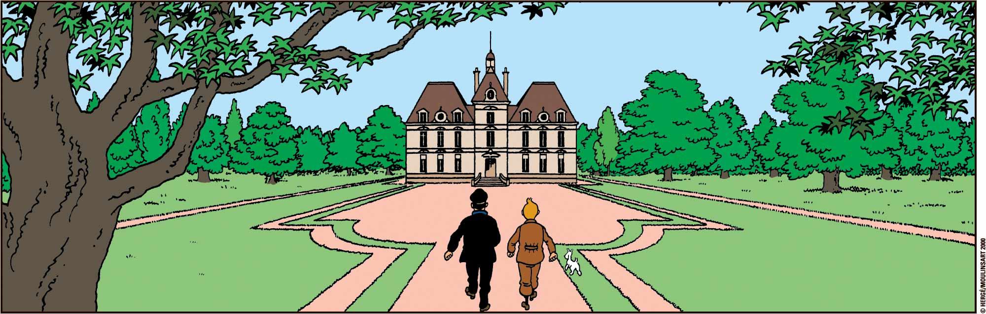Le Chateau de Moulinsart - Le Trésor de Rackham le Rouge - Résidence du capitaine Haddock