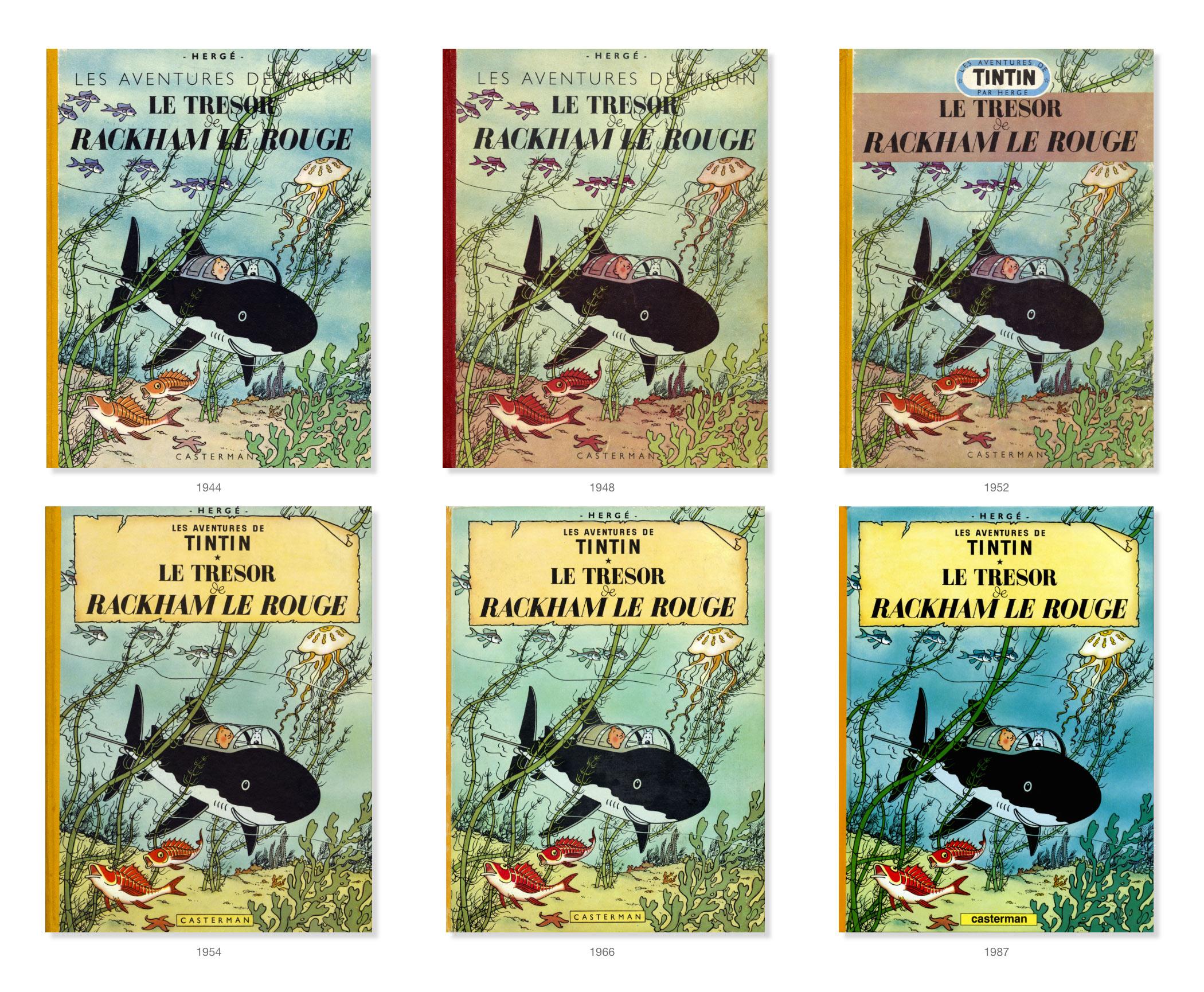 Tintin - Les Aventures de Tintin - Le Trésor de Rackham Le Rouge - albums
