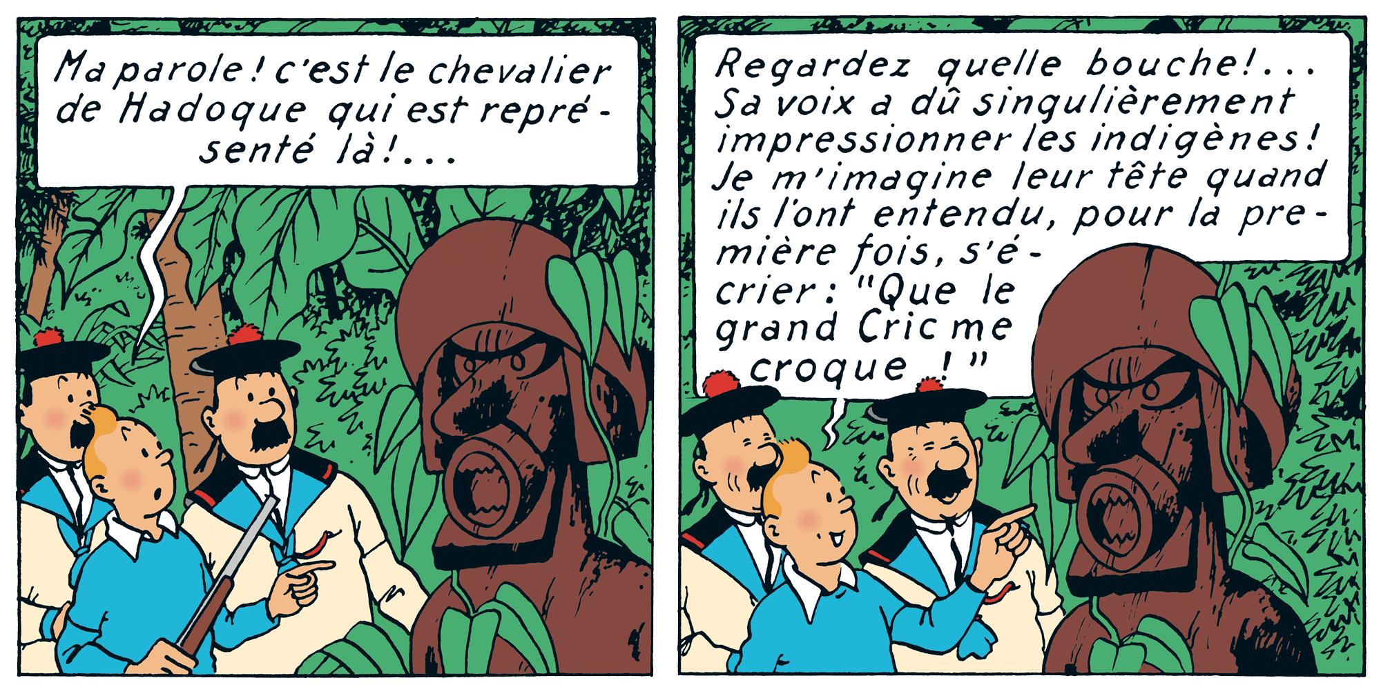 Tintin - Les Aventures de Tintin - Le Trésor de Rackham le Rouge - Que le grand cric me croque