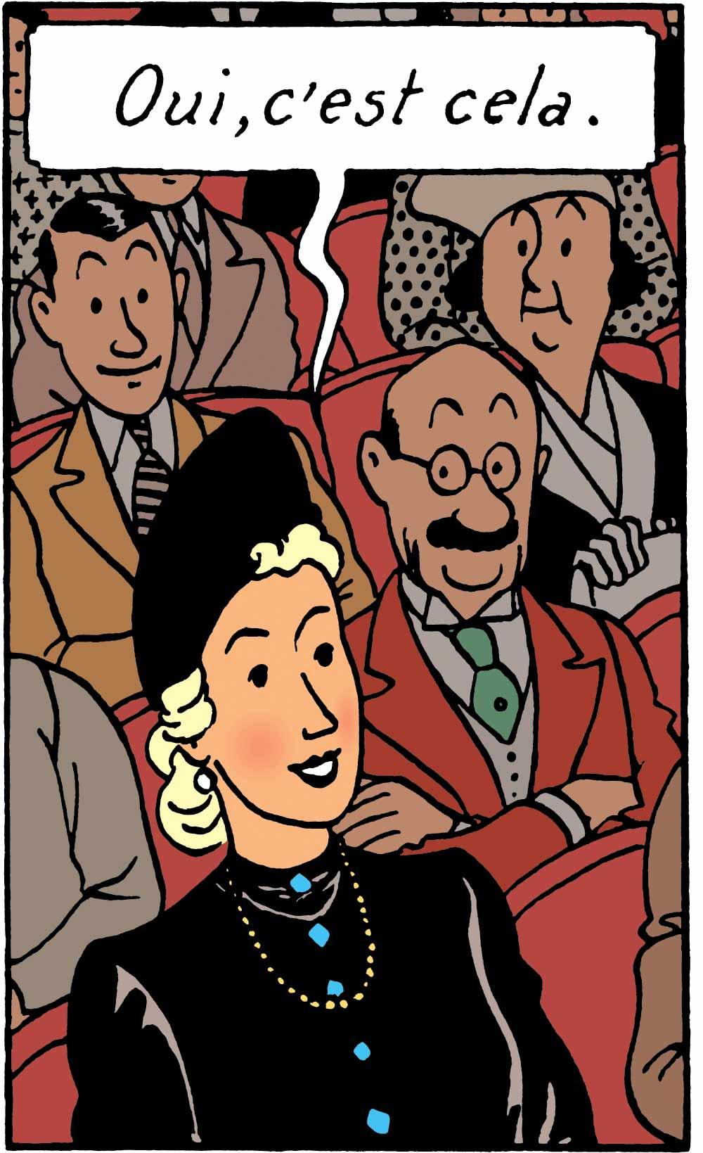 Tintin - Les Aventures de Tintin - Les 7 Boules de cristal - Personnage Madame Clairmont