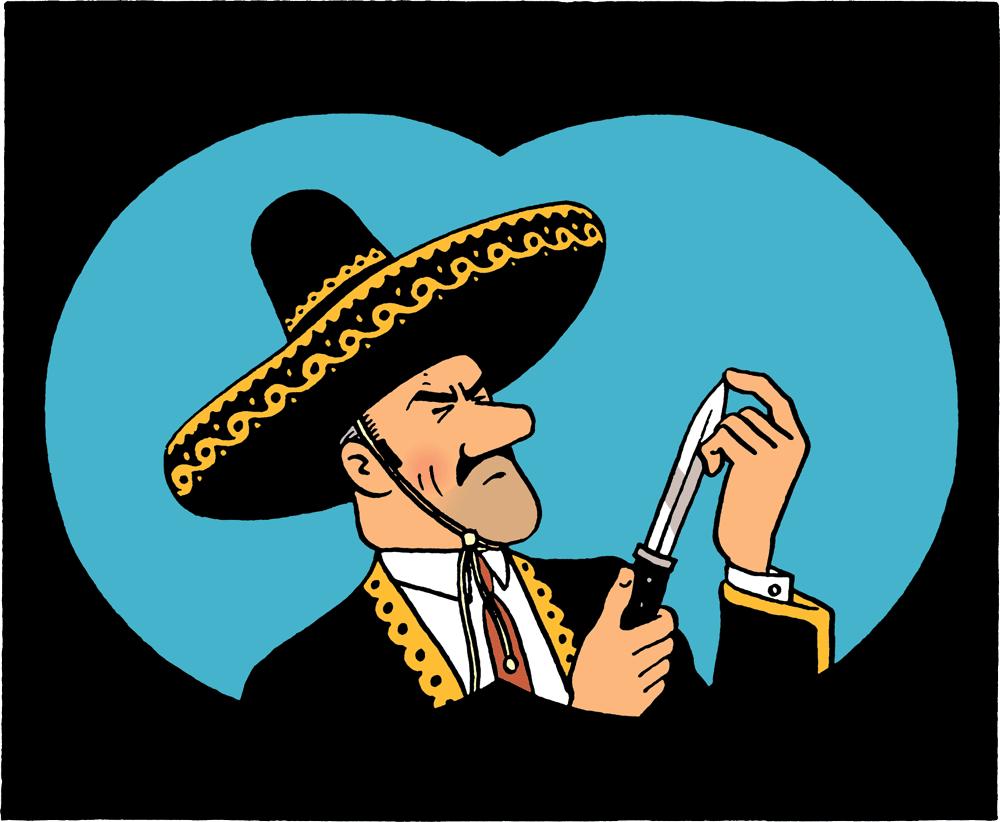 Tintin - Les Aventures de Tintin - Les 7 Boules de cristal - Personnage Général Alcazar - Ramon Zarate