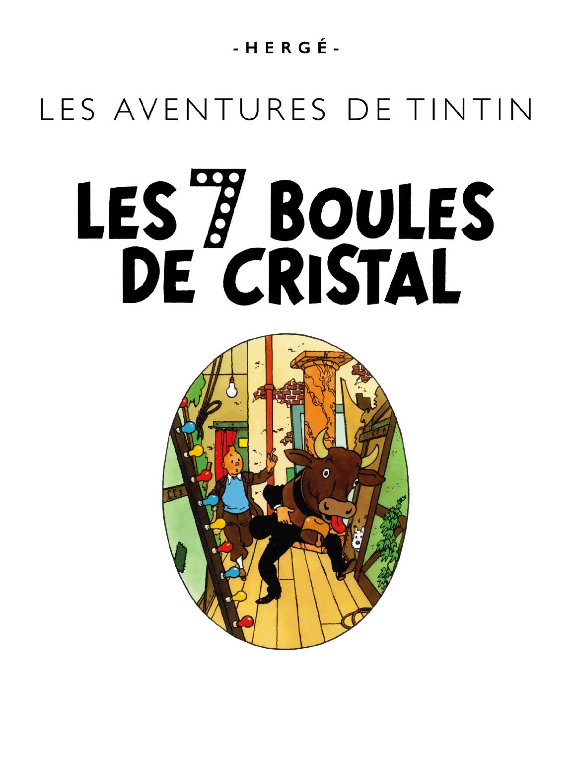 Les 7 Boules de cristal - page titre