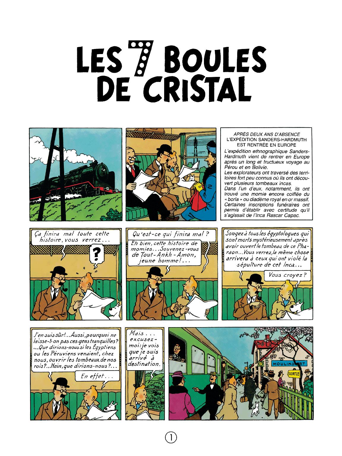 Les 7 Boules de cristal - page 1