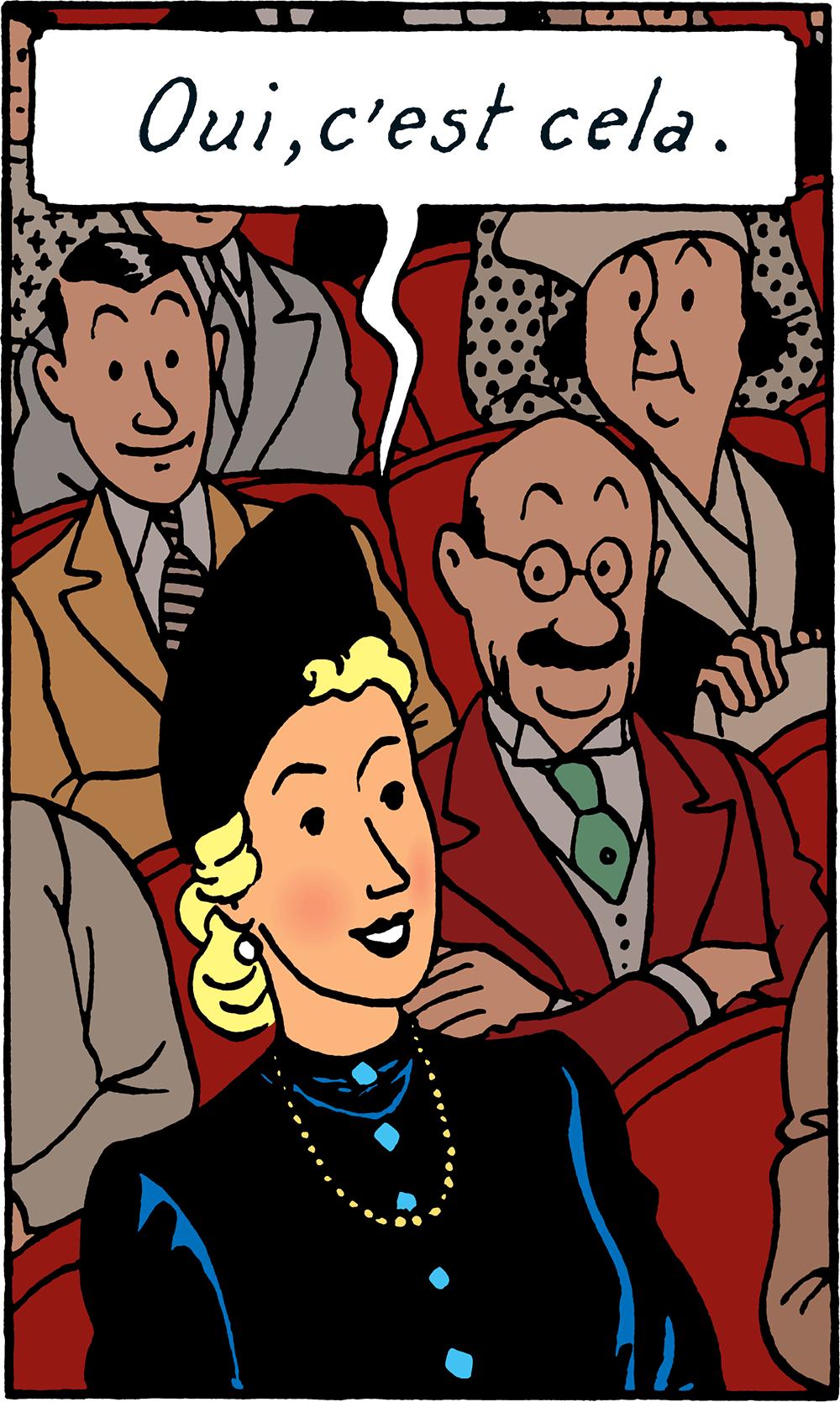 Madame Clairmont dans Les 7 Boules de cristal de Hergé