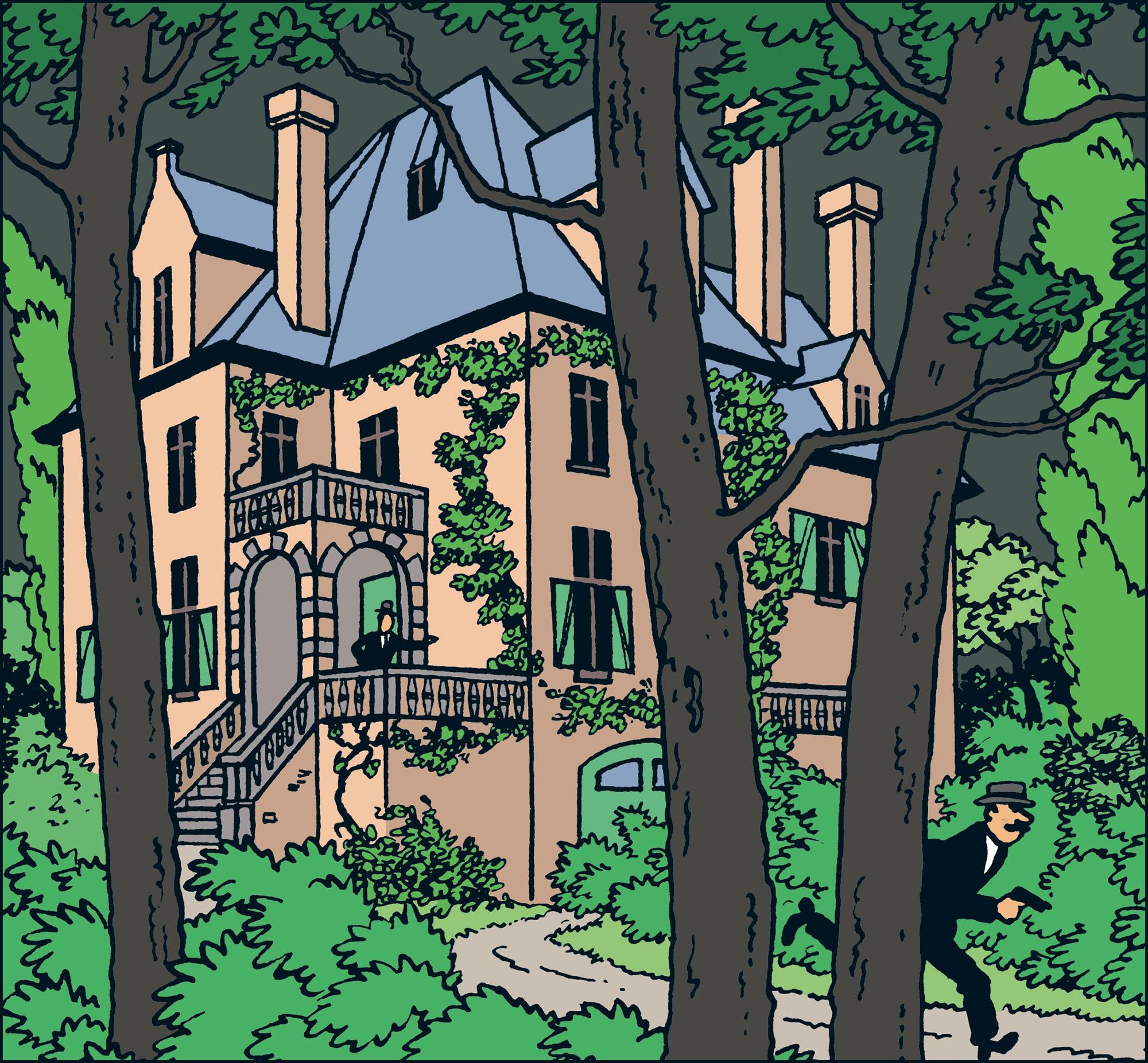 La maison du Professeur Bergamotte dans les 7 Boules de cristal