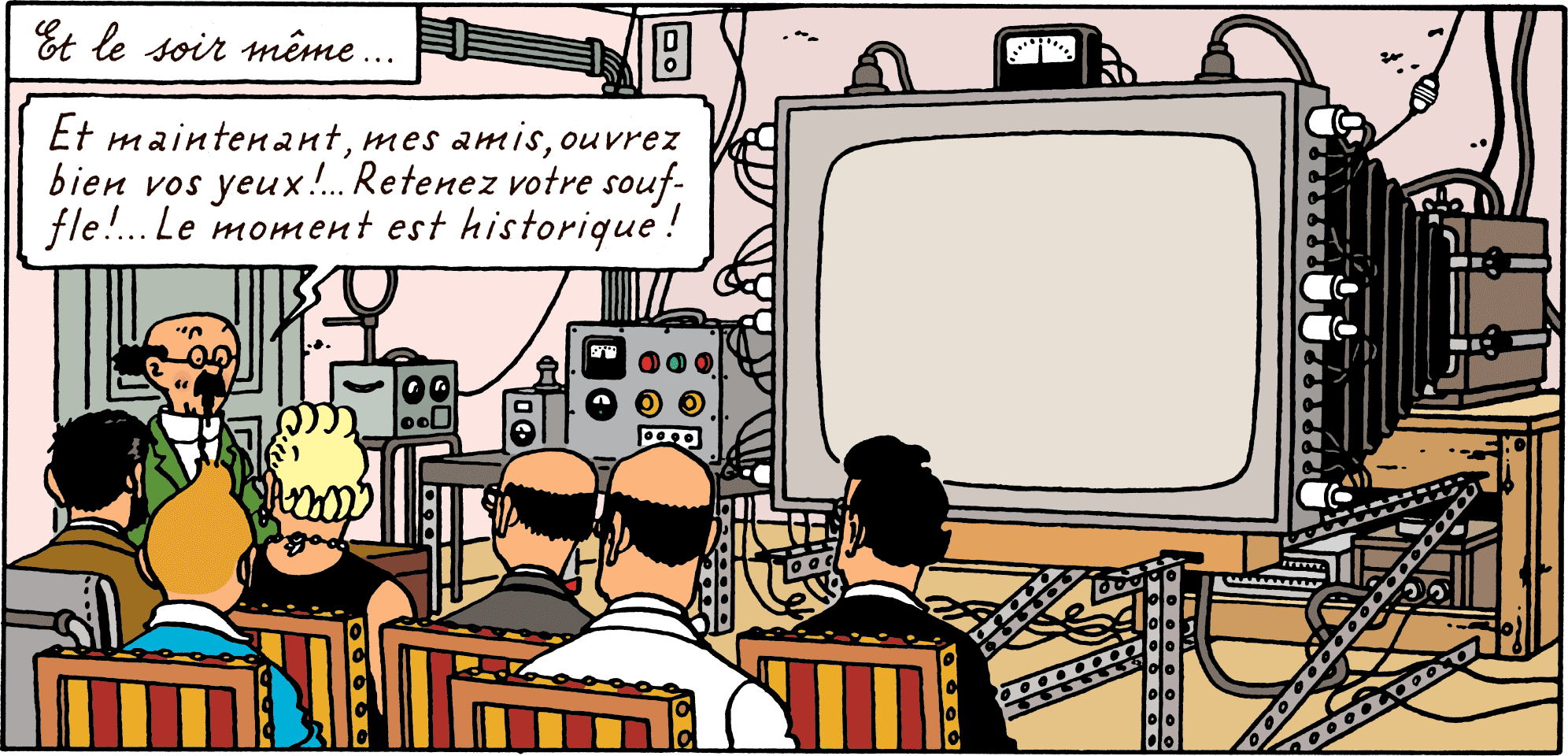 Tintin - Les Aventures de Tintin - Les Bijoux de la Castafiore - La TV en couleur