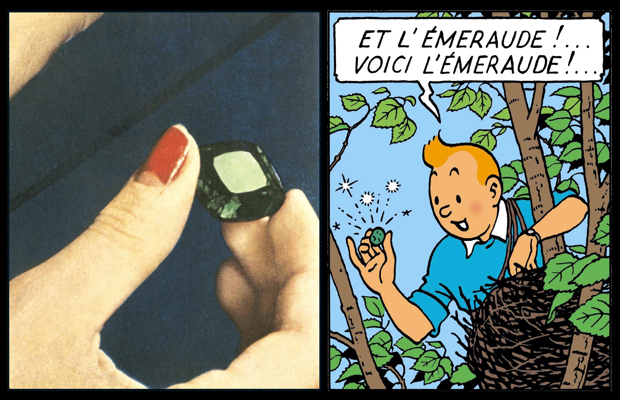 Emeraude dans Les Bijoux de la Castafiore