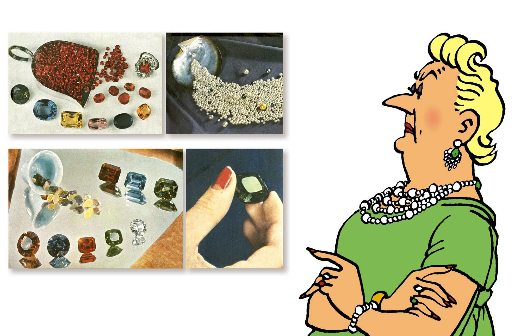 La Castafiore et ses bijoux - Documentation d'Hergé