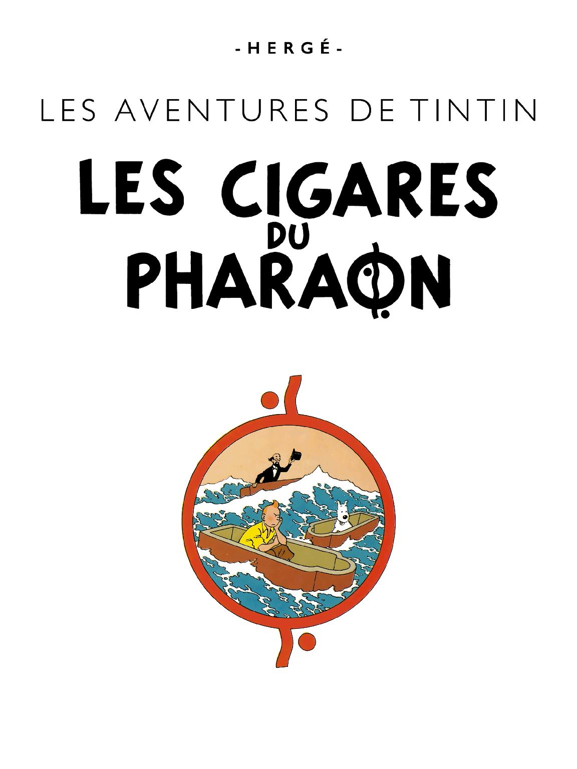 Les Cigares du Pharaon - Page titre