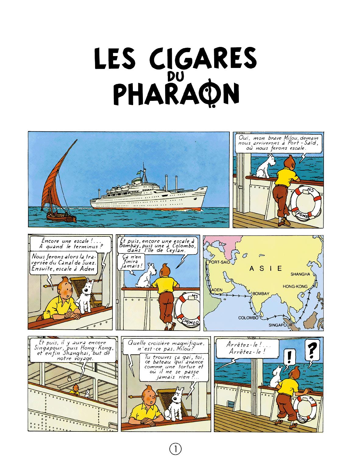 Les Cigares du Pharaon - Page 1