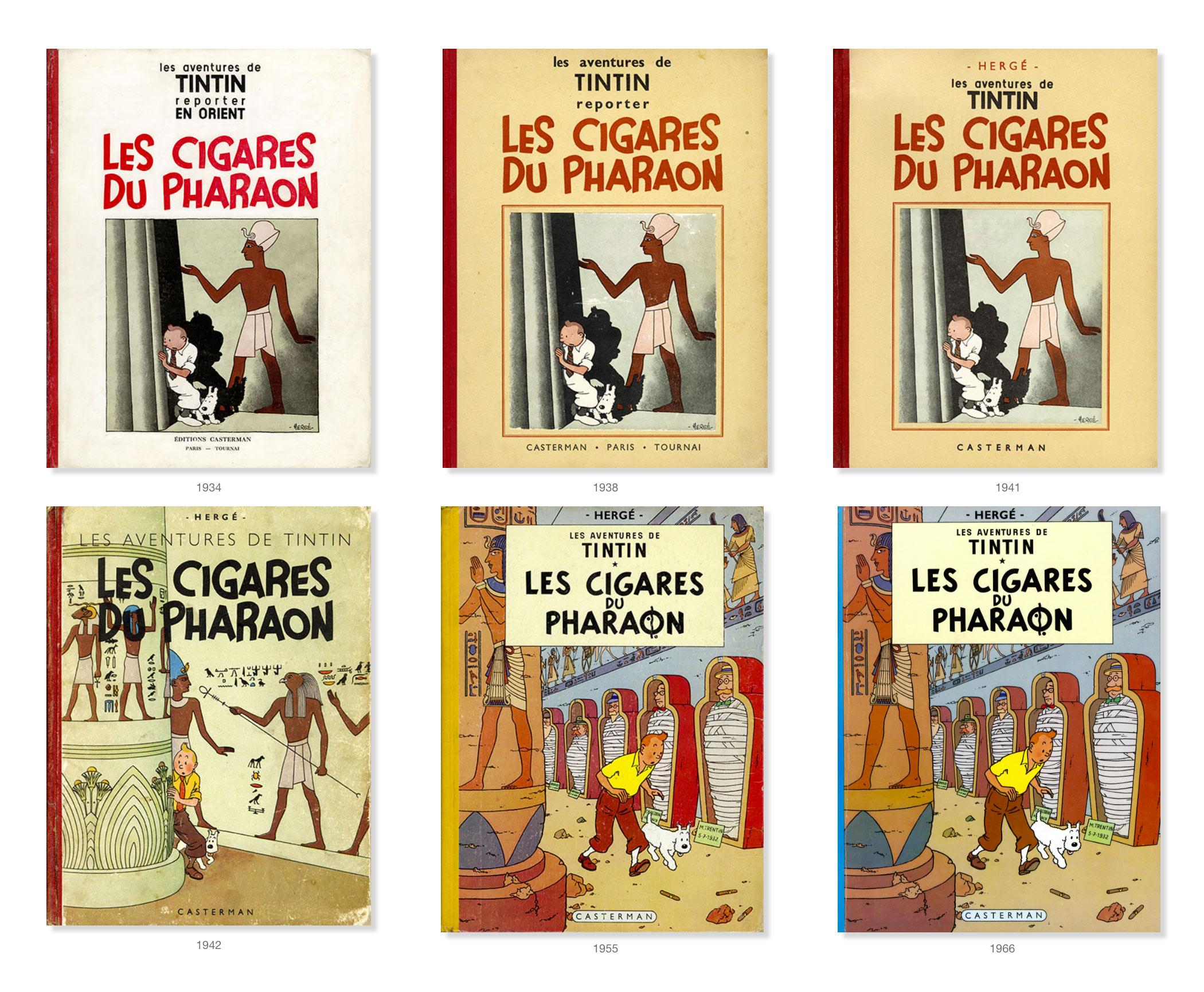 Tintin - Les Aventures de Tintin - Les Cigares du Pharaon - Couvertures Album