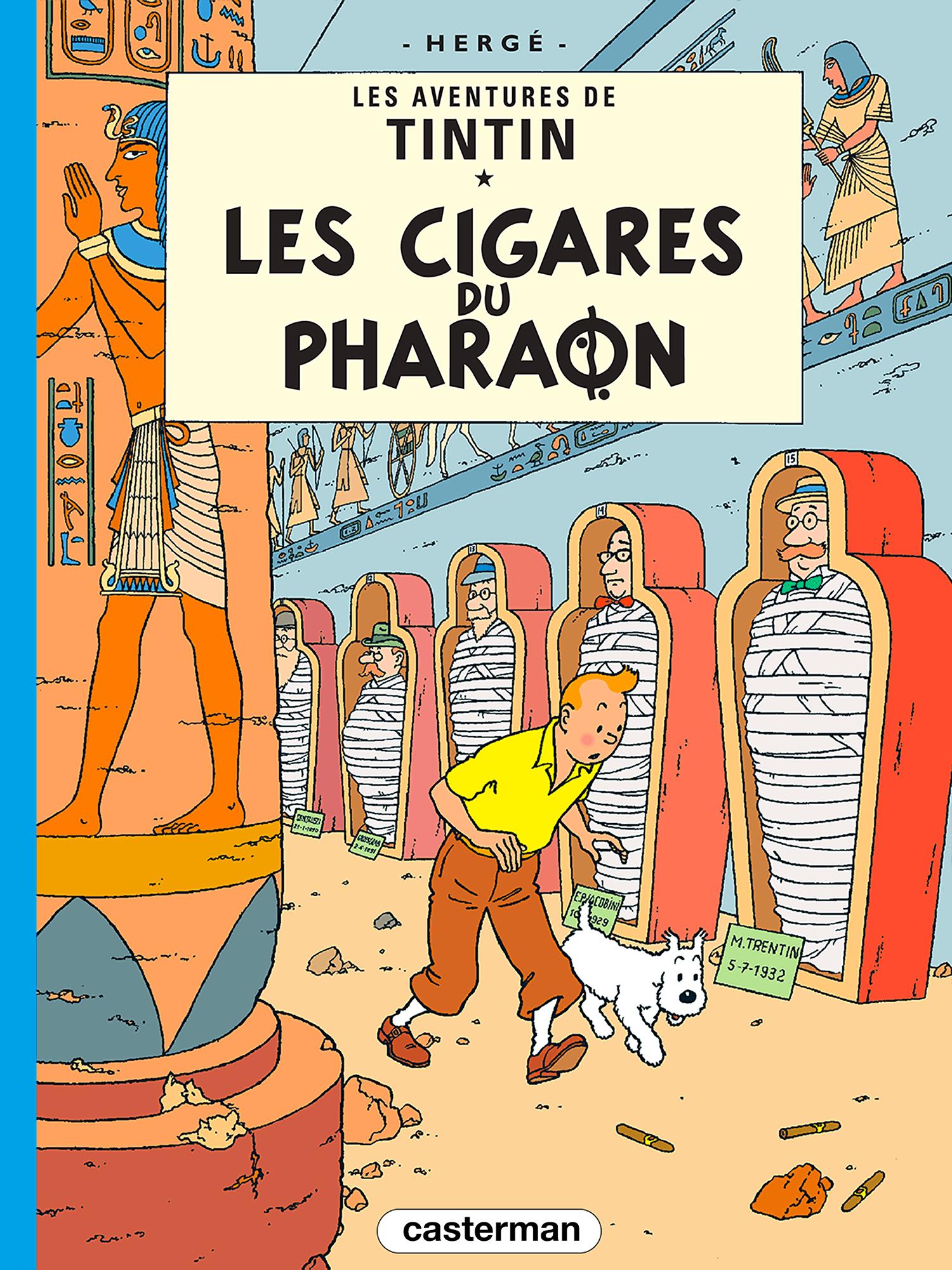 Couverture de l'album Les Cigares du Pharaon, les aventures de Tintin par Hergé