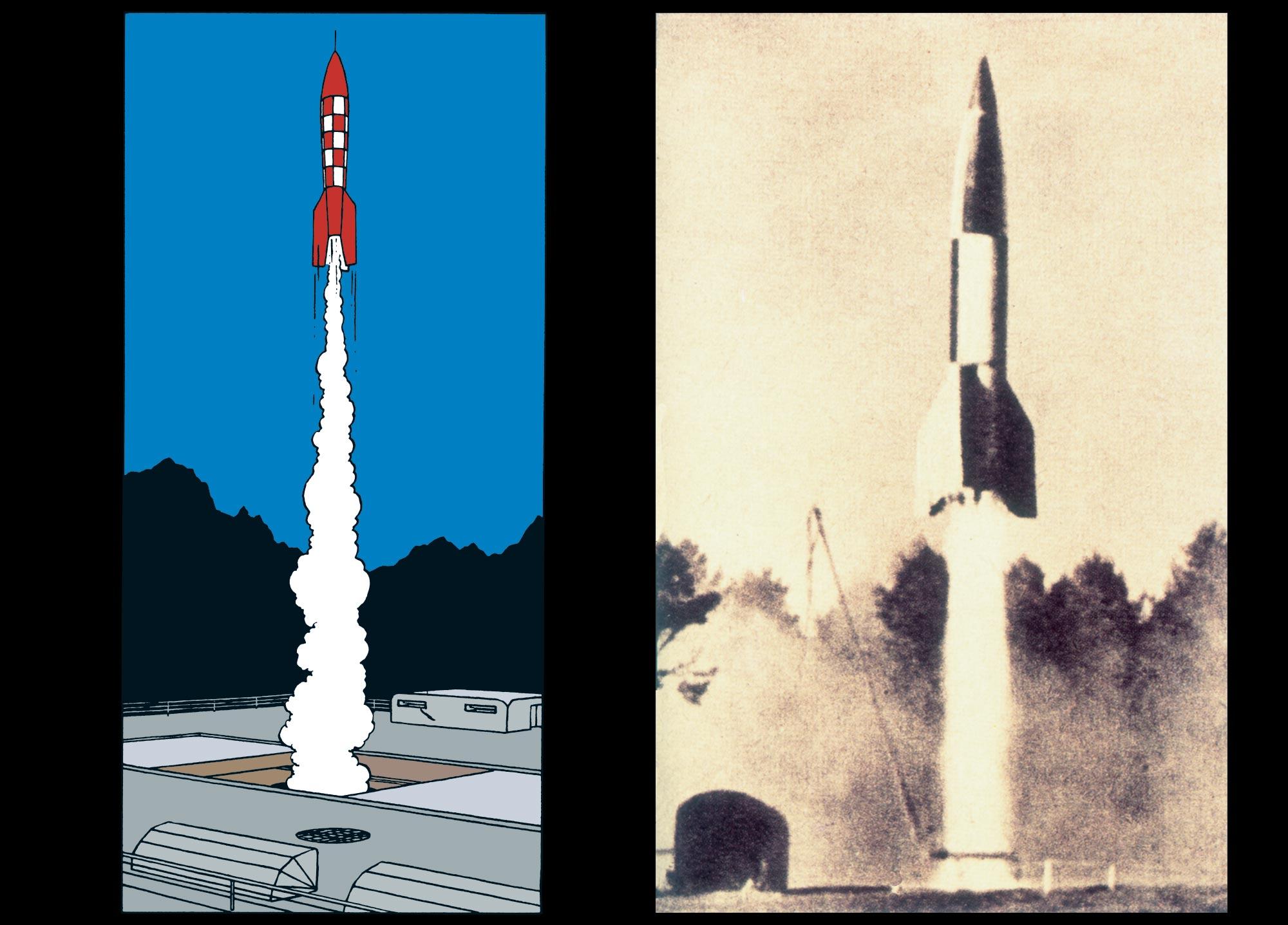 Tintin - Les Aventures de Tintin - Objectif Lune - La fusée - X-FLR6