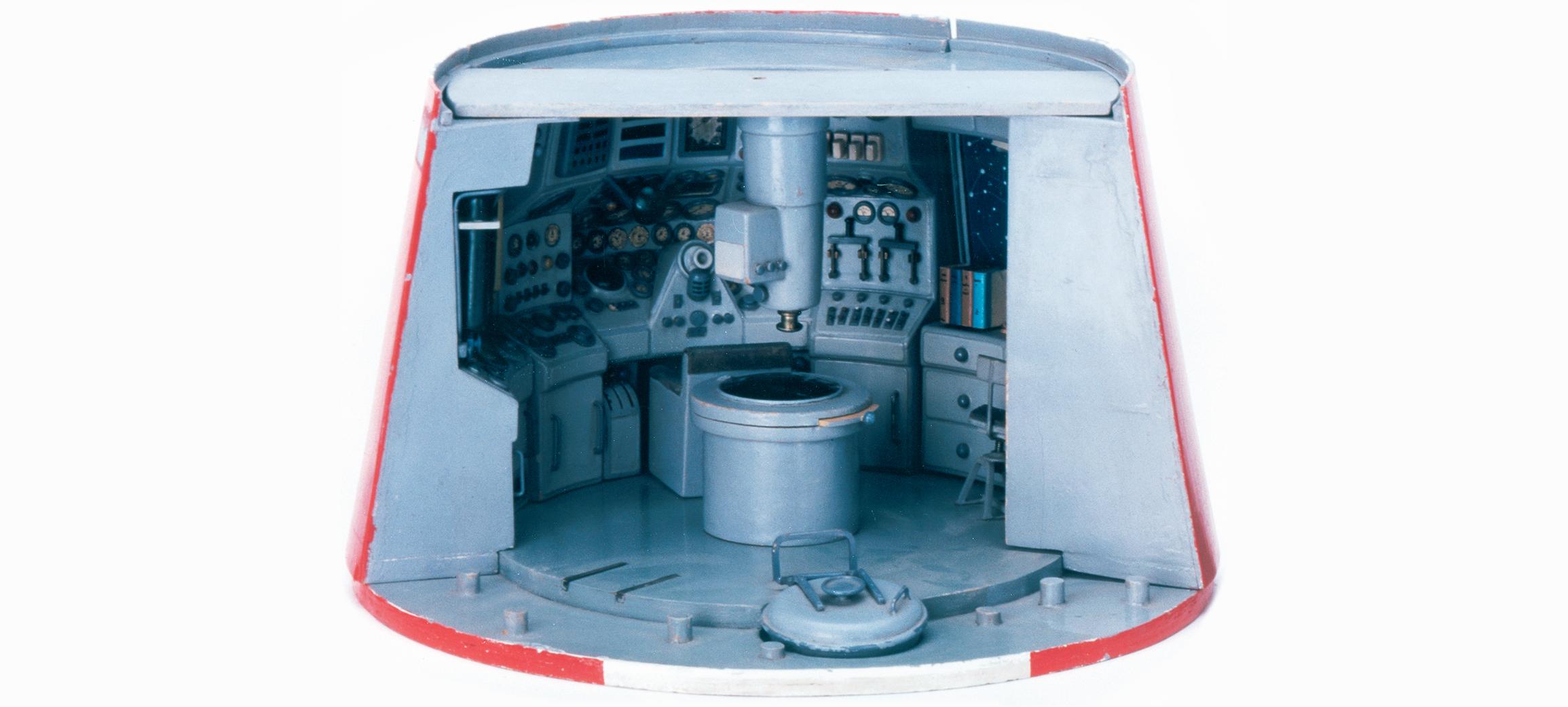 Maquette de la fusée spatiale pour Objectif Lune